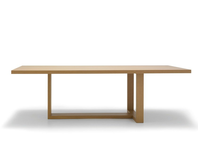 Rectangular solid wood table TAO by Andreu World