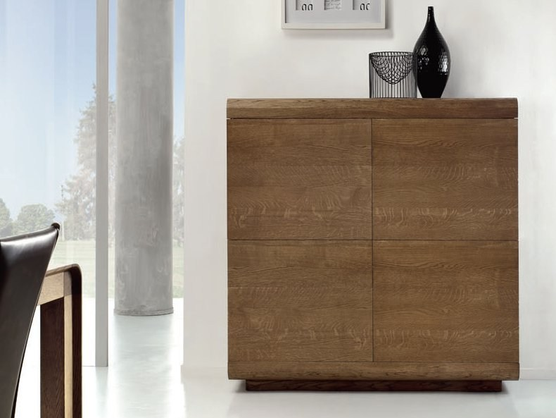 Highboard with doors BAMBUCO by Domus Arte