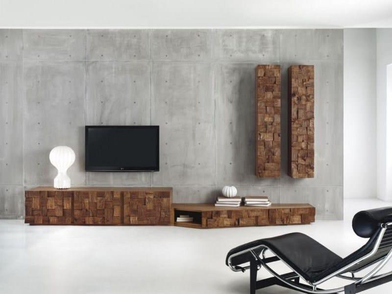 Oak storage wall WOODOC by Domus Arte
