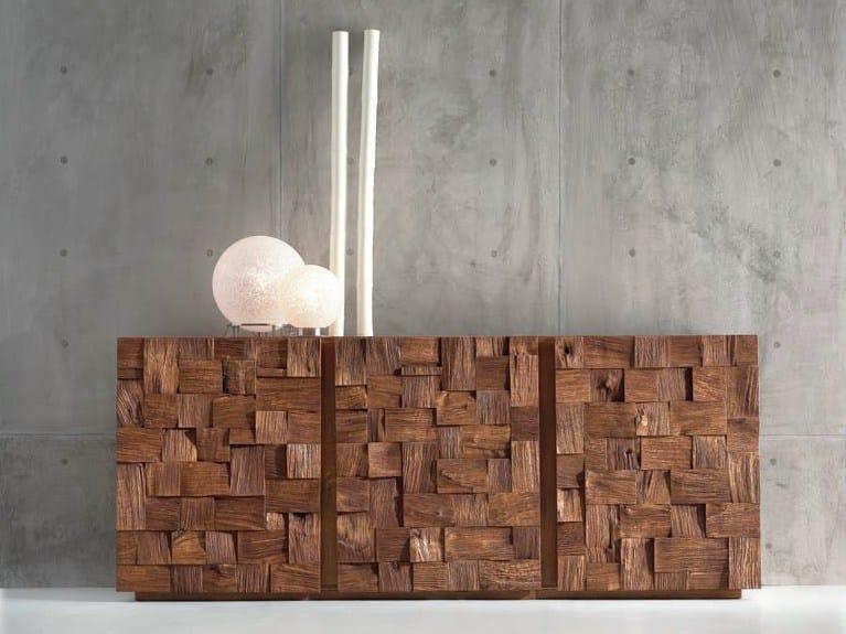 Oak sideboard with doors SKANDO by Domus Arte