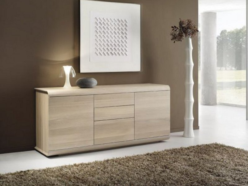 Oak sideboard with doors SWING by Domus Arte