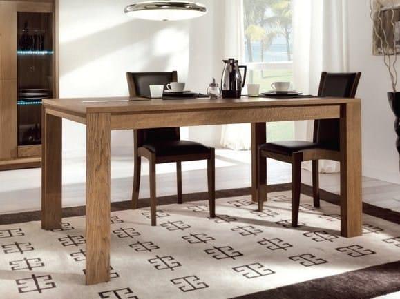 Rectangular oak table ORIONE by Domus Arte