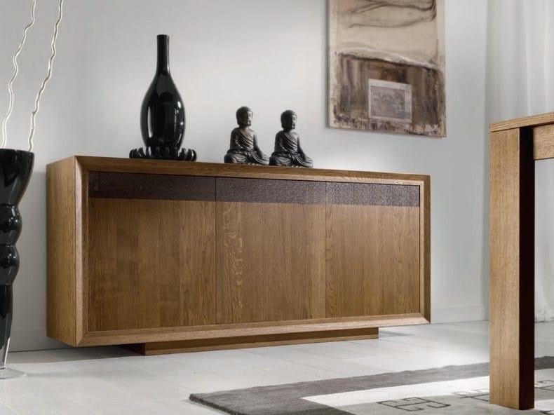 Oak sideboard with doors MANHATTAN by Domus Arte