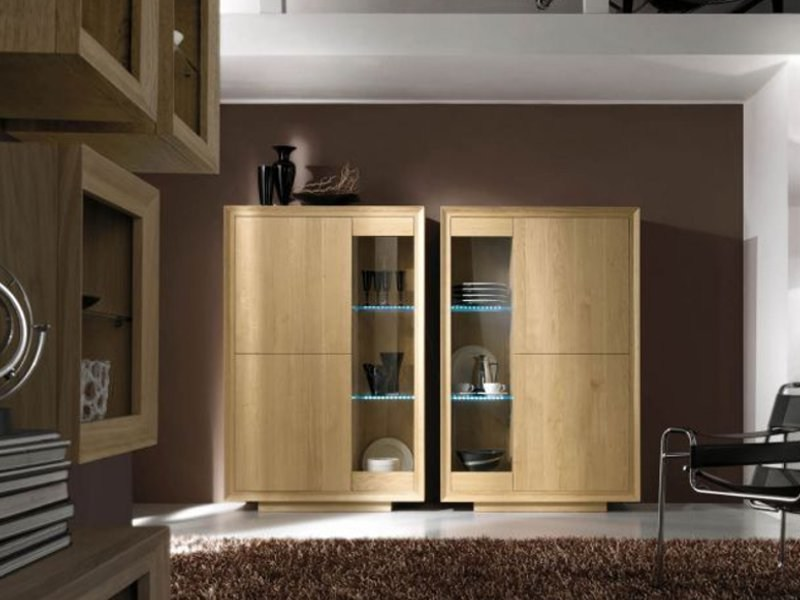 Oak display cabinet VEGA by Domus Arte