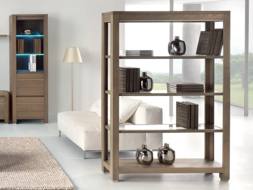 Double-sided oak bookcase ZARZUELA by Domus Arte