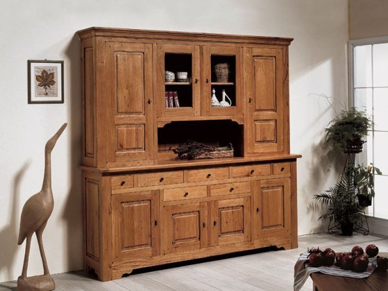Rustic style highboard with doors ARDECHE | Highboard by Domus Arte