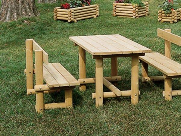 Wooden Table for public areas MONTANA LEGNO | Table for public areas by Legnami Tirano