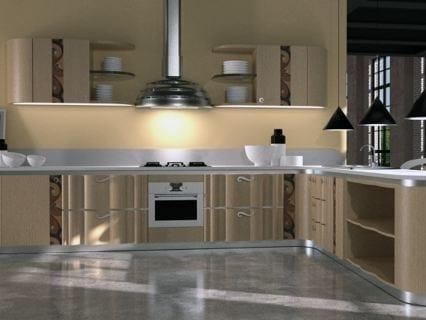 Multi-layer wood kitchen unit MISTRAL | Kitchen by Carpanelli Contemporary