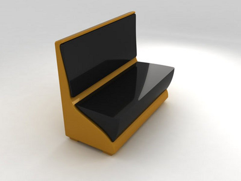 Glass-fibre bench NEPTUNO RECTO by Lamalva