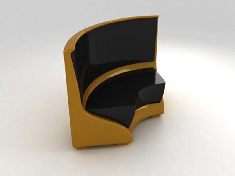 Round glass-fibre bench NEPTUNO CURVO by Lamalva