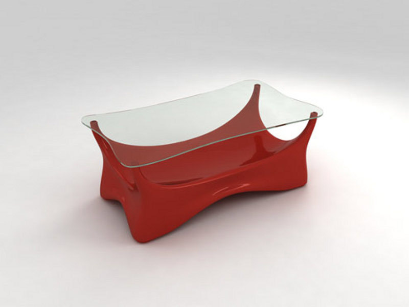Low rectangular coffee table BRUJO   Coffee table by Lamalva