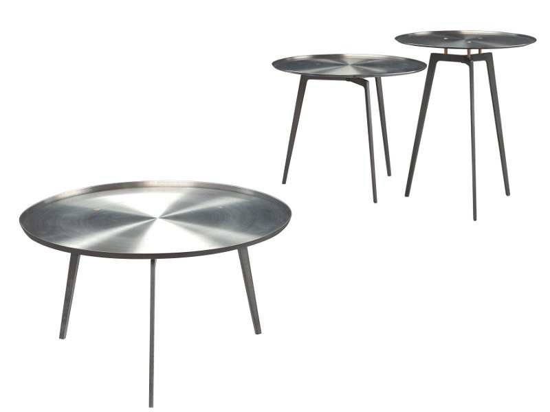 Round steel coffee table T - GONG by ALIVAR