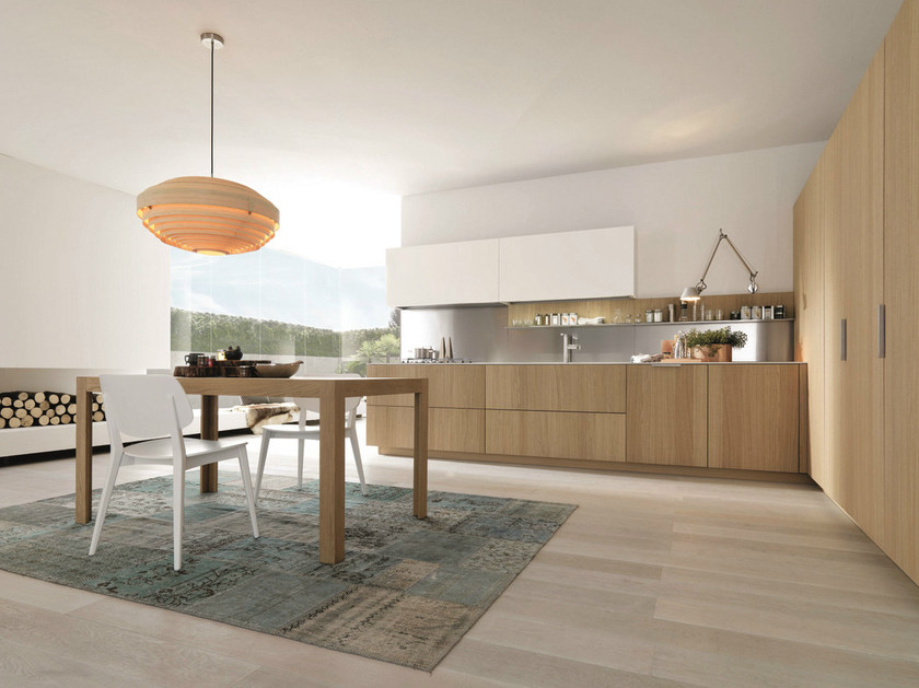 Wooden fitted kitchen ANTIS 12 by Euromobil