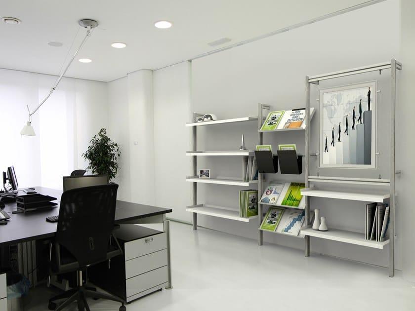 INUNO   Libreria ufficio modulare libreria modulare con piani inclinabili ed espositori