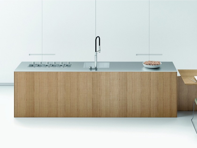 Wooden fitted kitchen FILO ANTIS + ASSIM by Euromobil