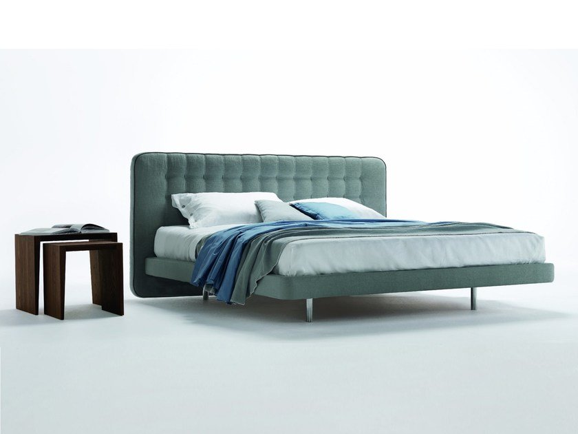 Double bed with upholstered headboard DEDALO UP by Désirée divani