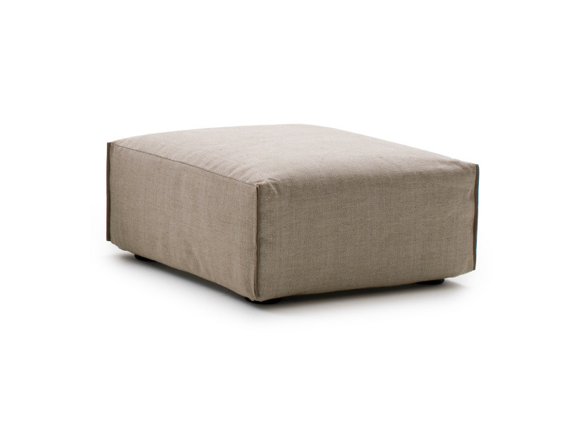 Upholstered fabric pouf PARKER | Pouf by Milano Bedding