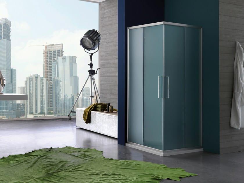 Rectangular shower cabin with sliding door PIXEL   Shower cabin with sliding door by Samo