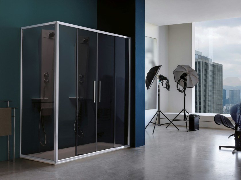 2 places shower cabin with sliding door PIXEL | 2 places shower cabin by Samo