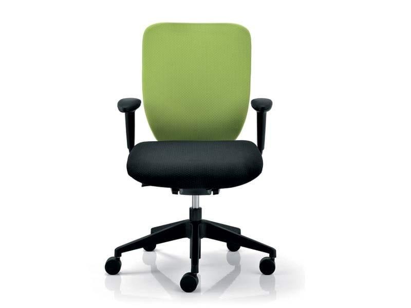 ELEMENTS   Sedia ufficio ELEMENTS sedia ufficio operativa - Poltrona braccioli regolabili in altezza 3D, supporto lombare regolabile, base nylon e sedile scivolante