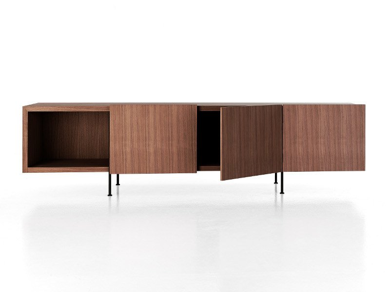 Wooden sideboard with doors TILLER by Porro
