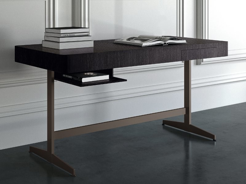Steel and wood writing desk ERNEST by Casamilano