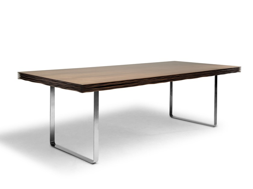 Rectangular dining table PARCHMENT | Table by KENNETH COBONPUE