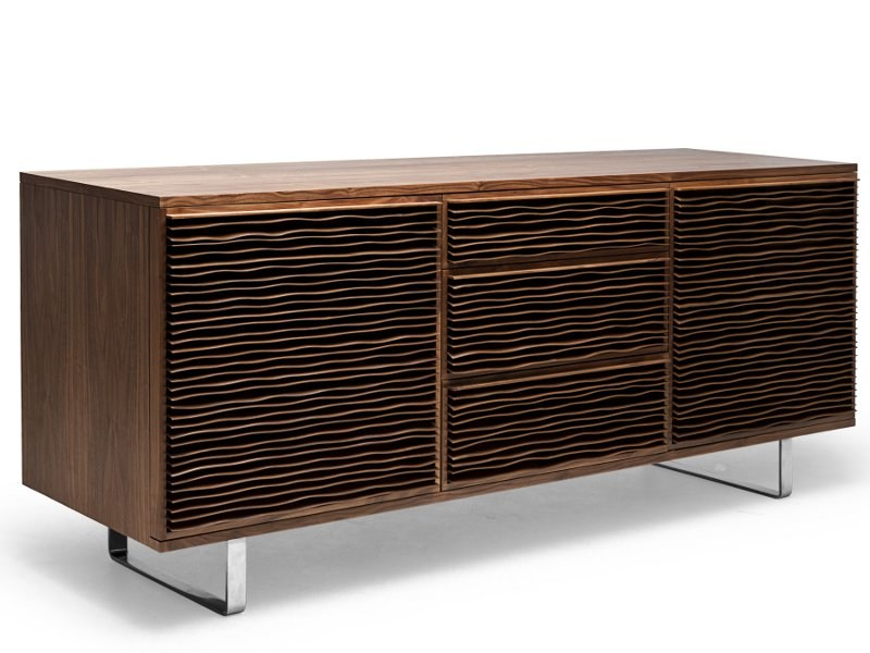 Crystal sideboard with doors with drawers PARCHMENT | Sideboard by KENNETH COBONPUE