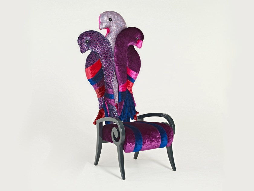 Upholstered armchair JALOUSIE by Sicis