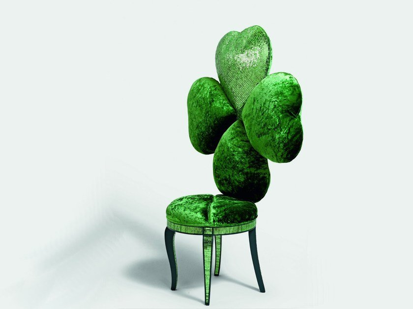 High-back chair LUCKY CHARM by Sicis