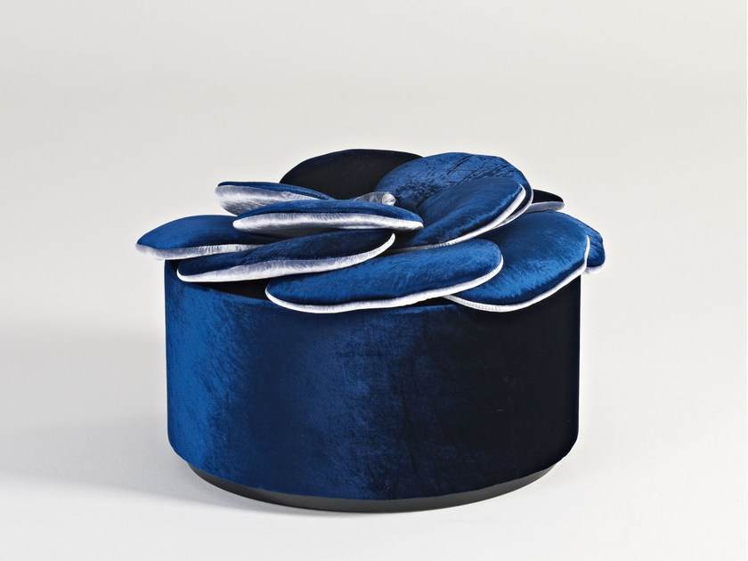 Upholstered pouf MIGNON by Sicis