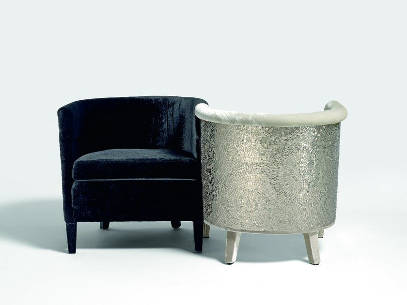 Upholstered armchair with armrests SECRET LOVERS by Sicis