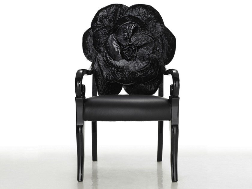 Chair with armrests TRONE by Sicis