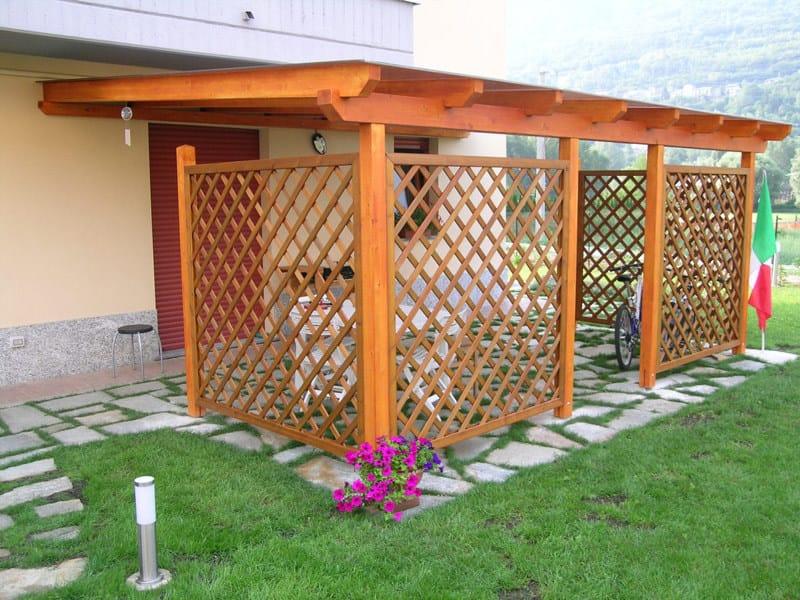 Wooden porch / pergola ILT MONTANA LEGNO | Porch by Legnami Tirano