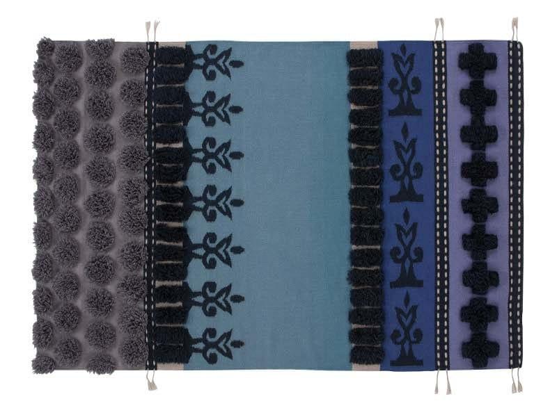Striped wool rug TUMBUCTU' by GAN