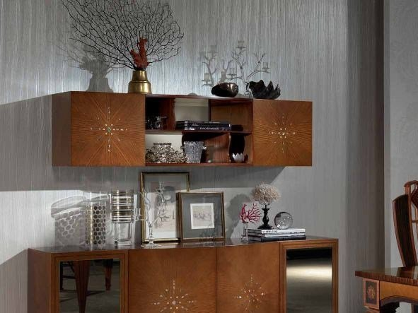 Oak wall cabinet with mirrored back NUBE by Carpanelli Classic