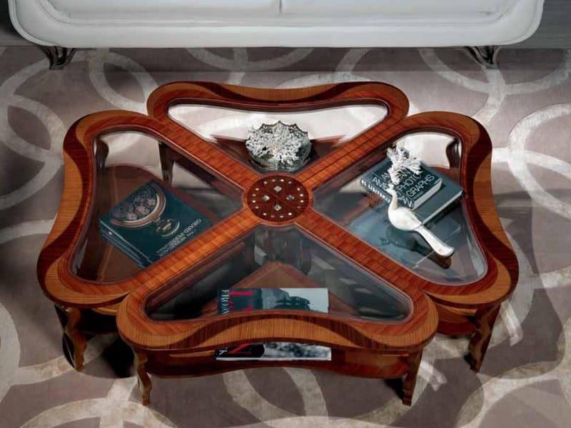 Oak coffee table for living room QUADRIFOGLIO | Coffee table by Carpanelli Classic