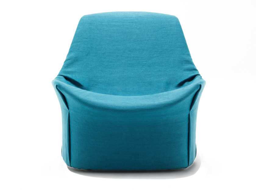 Upholstered armchair with removable cover KIRU by Living Divani