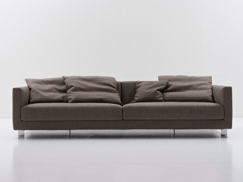 Fabric sofa with removable cover BOOK NEST 011 by Nube Italia