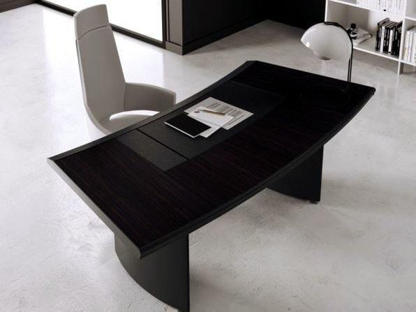 Wooden executive desk ARCO | Executive desk by MASCAGNI