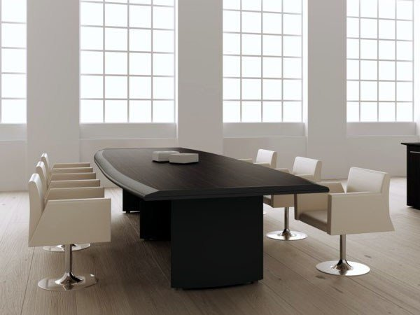 Wooden meeting table ARCO | Meeting table by MASCAGNI