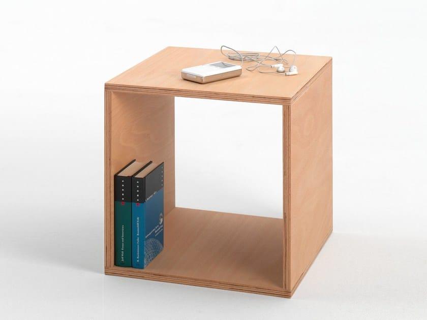 Beech coffee table / bedside table CUBE by Tojo Möbel