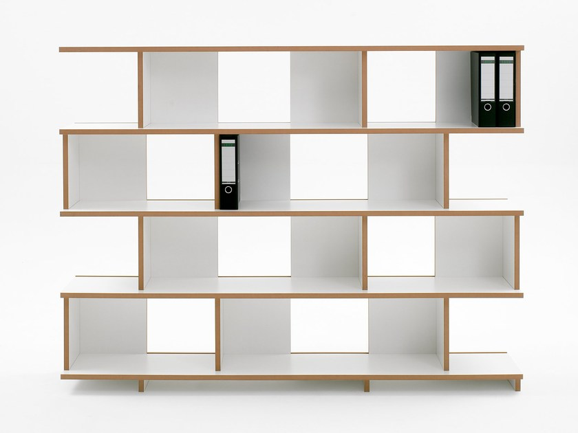 Freestanding MDF shelving unit STELL | Shelving unit by Tojo Möbel