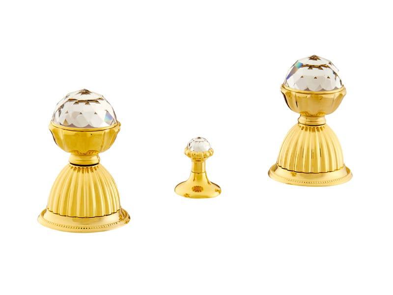 3 hole bidet tap with Swarovski® crystals ARTICA   Bidet tap with Swarovski® crystals by Bronces Mestre
