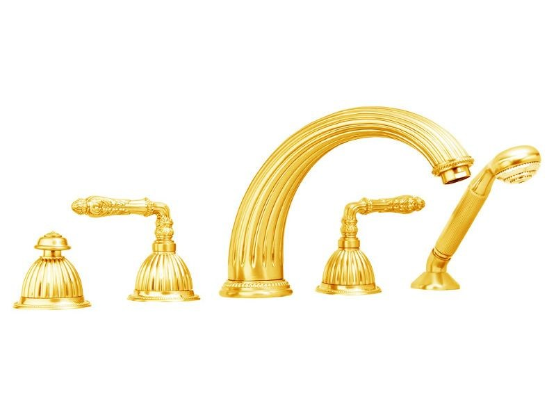 5 hole brass bathtub set ARTICA | 5 hole bathtub set by Bronces Mestre