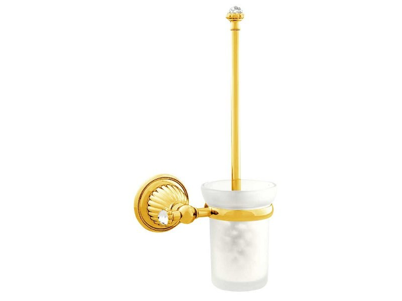 Brass toilet brush with Swarovski® Crystals ARTICA | Toilet brush with Swarovski® Crystals by Bronces Mestre