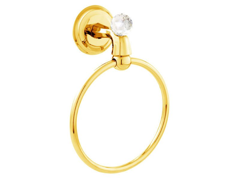 Brass towel ring with Swarovski® Crystals INDICA | Towel ring with Swarovski® Crystals by Bronces Mestre