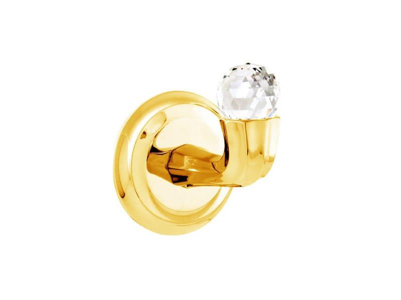 Brass towel hook with Swarovski® Crystals INDICA   Towel hook with Swarovski® Crystals by Bronces Mestre