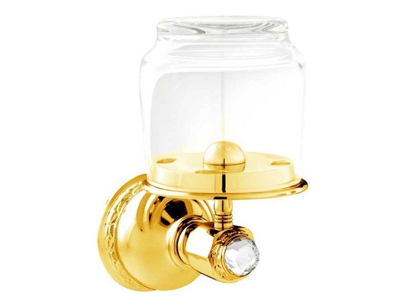 Brass Toothbrush holder with Swarovski Crystals AUSTRAL   Portabicchiere by Bronces Mestre