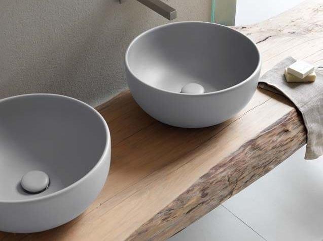 Ceramica Cielo Lavabo Shui.Lavabo Da Appoggio Rotondo In Ceramica Shui Lavabo Rotondo